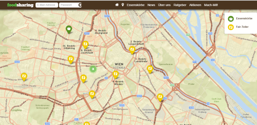 foodsharing map screenshot