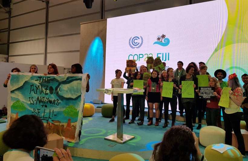 Activism by youth at COP23 on the Agricultur Day